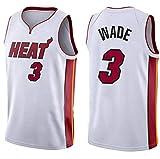 マイアミヒートウェイドNo. 3ジャージ、バスケットボールスウェットシャツ、スポーツバスケットボールユニフォーム、男の子と女の子に適しています (Size : M)