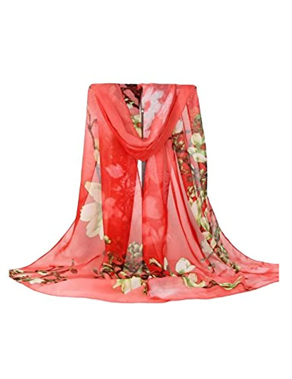 バリケード移行熱意ビエスディディ レディース 全6色 ファッション シフォン 防晒 防紫外線 UVカット 薄手 ロング スカーフ