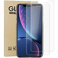 G-luck【二枚セット】iphone XR 強化ガラス液晶保護フィルム 高透過率 飛散防止 硬度9H 指紋防止 サラサラ 自己吸着 キズ防止 衝撃吸収 防指紋(6.1インチ)