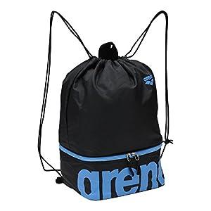 arena(アリーナ) プールバッグ 水泳用 プール バッグ ブラック×サックス ARN-7428 BSX F