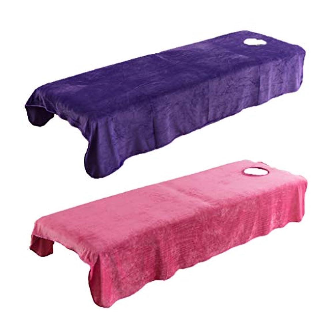 主に生発表P Prettyia 2枚 スパ マッサージベッドカバー 有孔 美容ベッドカバー マッサージ台シーツカバー 快適 通気性