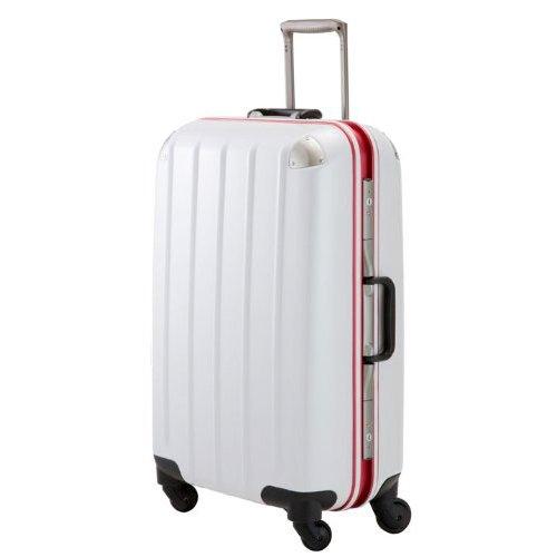 (PLUS ONE)プラスワン スーツケース swift Frame 5510-64 ホワイト 64cm