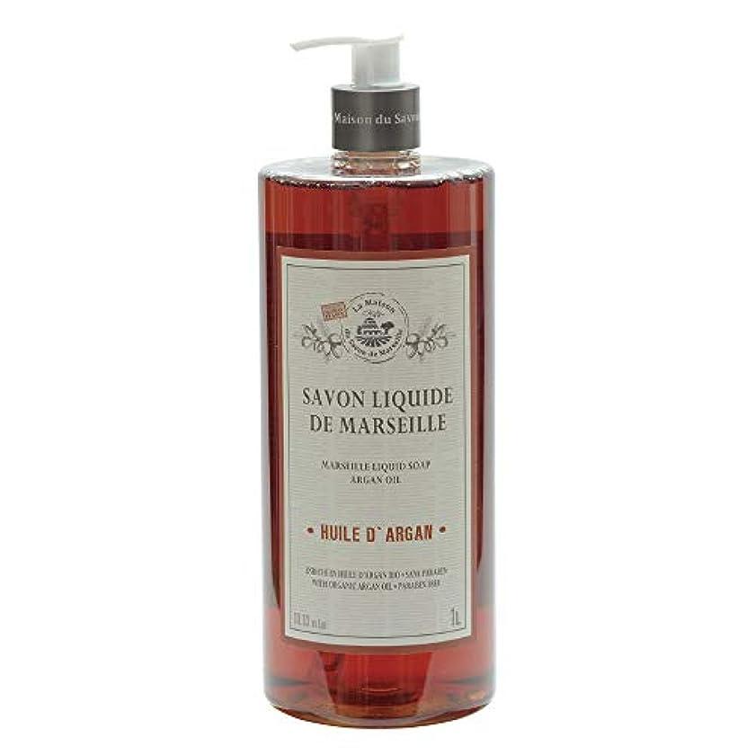 頭痛虫を数えるラインノルコーポレーション マルセイユ石鹸 リキッドソープ 1L アルガンオイルの香り MLL-2-5
