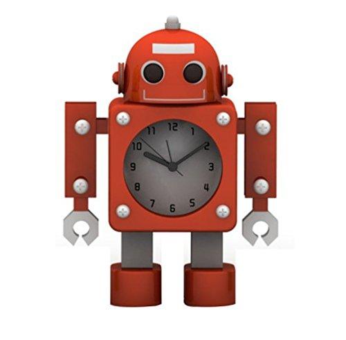 OCIOCI 音と光でお知らせ 目覚まし時計 かわいい おしゃれ ロボット型 子供も喜ぶ インテリア プレゼントにも 全10種類