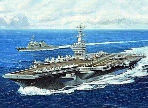【並行輸入品】Trumpeter 1/700 USS Nimitz CVN68 Aircraft Carrier 2005 Model Kit =トランペット奏者1/700米国ニミッツCVN68航空母