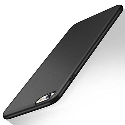 TORRAS iPhone6/6sケースガラスフィルム付きアイフォン6ハードケース アイホン6用 カバー (ブラック)