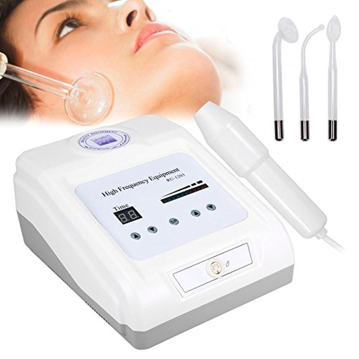 ヒゲ生物学アロング高周波電気療法の器械、消炎アクネの処置の顔の心配の美用具(01)