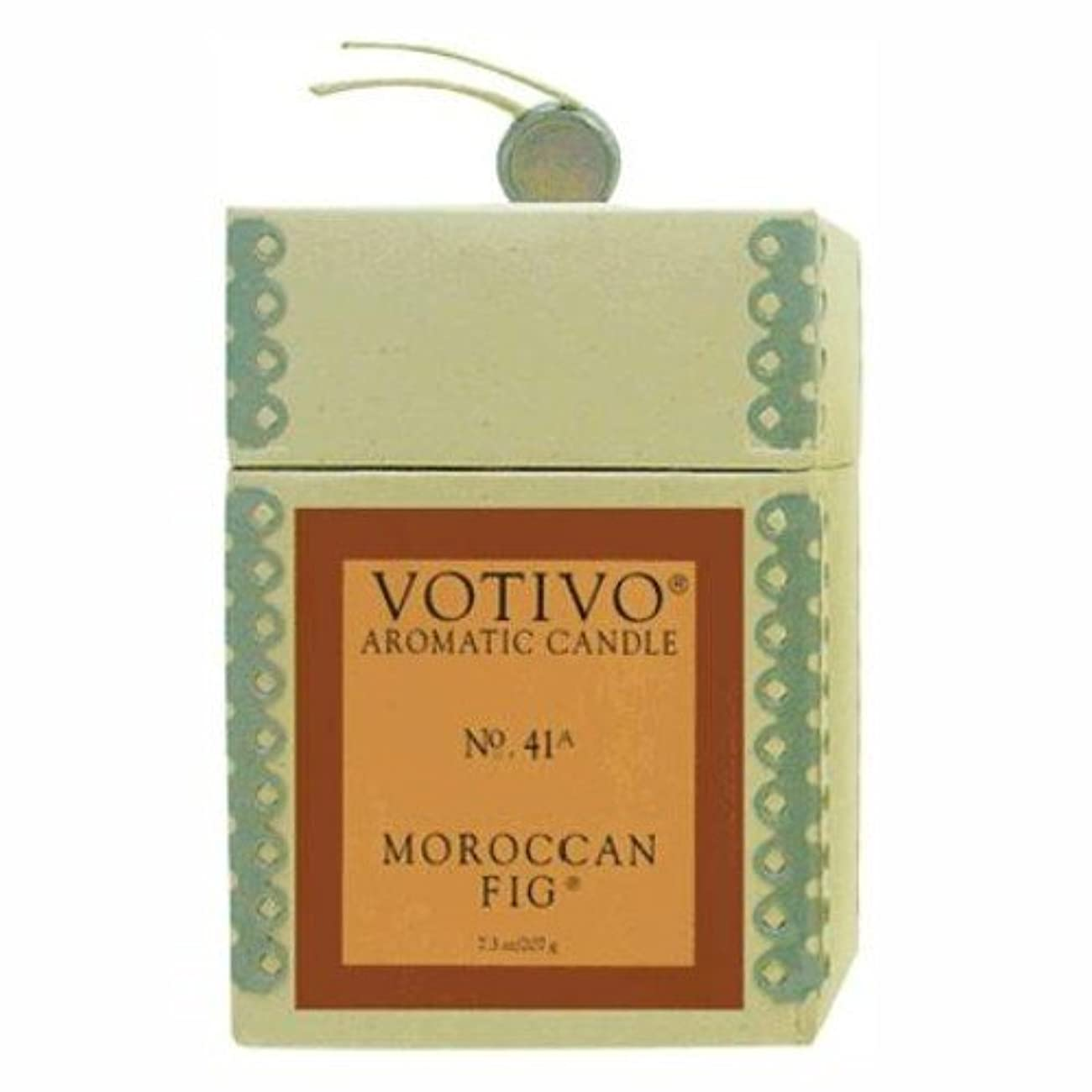 フライト心から分注するVOTIVO AROMATIC CANDLE MOROCCAN FIG