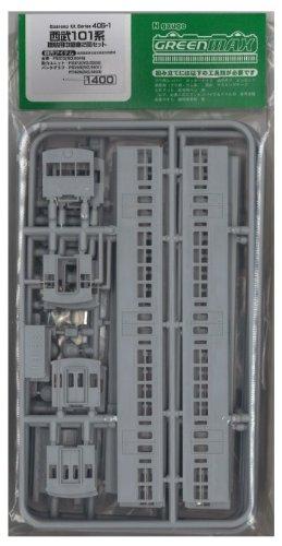 グリーンマックス Nゲージ 405-1 西武101系増結用中間 2輌  未塗装車体キット