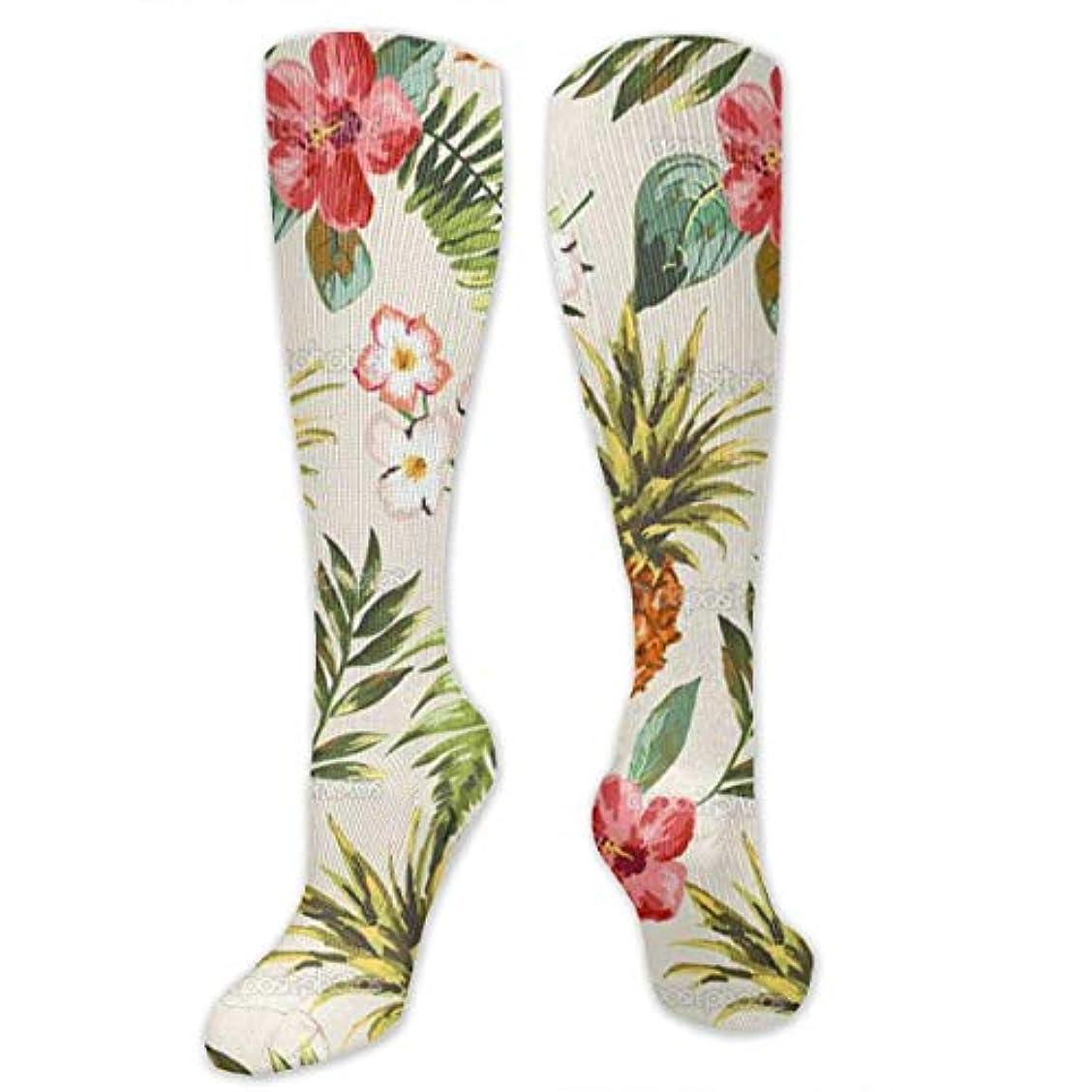 考えた心理的にオデュッセウス靴下,ストッキング,野生のジョーカー,実際,秋の本質,冬必須,サマーウェア&RBXAA Tropical Pineapple Flower Plant Socks Women's Winter Cotton Long Tube...