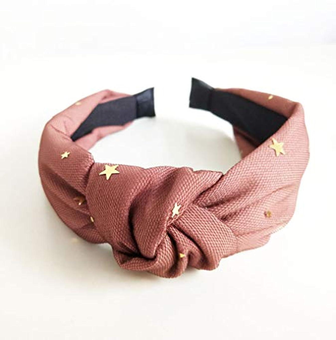 タフクラシックネックレスCMFJSOP 布の小さなスターメッシュ二重層の弓のヘアバンドクロスヘアバンド結び目のヘッドバンドの韓国語版