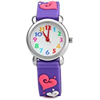 Kid's Watch Vinmori, with 3D Cute Cartoon Pattern Silicone Band Waterproof Quartz Watch Kids Children Boys Girls