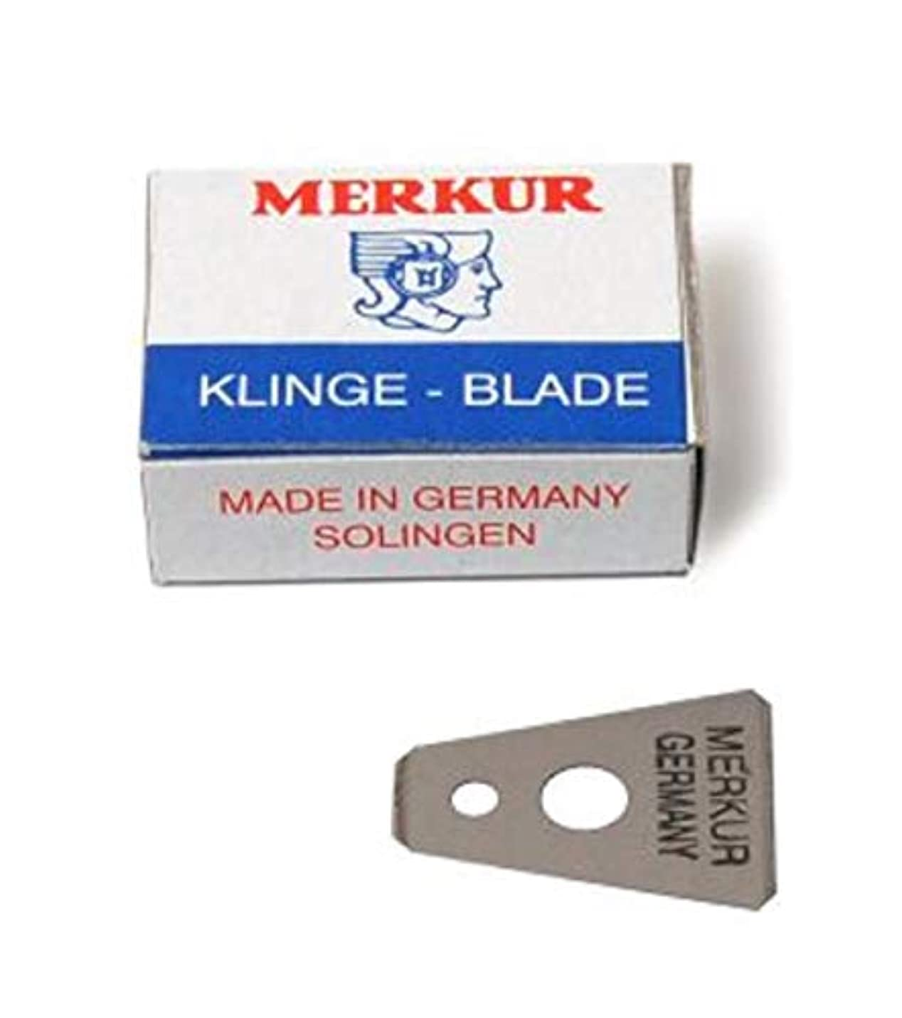 出席する式空洞MERKUR Solingen - Razor blades for moustache shaver, 10 pieces, 90908100
