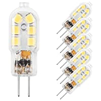 bailida g4LED電球、ピン電球12V JC Bi、20Wハロゲン電球交換、5- Pack G4W1.5-6000K-5P