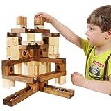 ビー玉 積み木 転がし 玉の道  木のおもちゃ  知育玩具