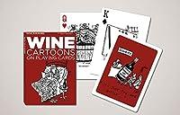 Piatnik トランプ ポーカー 標準サイズ ワインカートゥーン