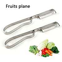 Zixmat(TM)便利な多機能果物と野菜のツールステンレス鋼の刃のフルーツピーラー飛行機鉄キッチンツールD64