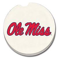NCAA車コースター(セットof 2) NCAAチームミシシッピOle Miss Rebels