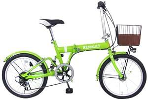 RENAULT(ルノー) 20インチ6段変速折りたたみ自転車 RENAULT FDB206 スプリンググリーン