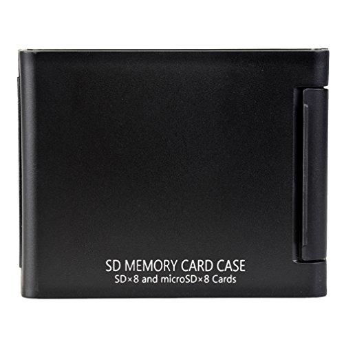 SDカードケースAS SD8 BK SD microSD各8枚収納可能 ブラック 704424