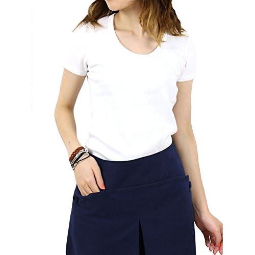 """(スリードッツ) three dotsコットンUネック半袖Tシャツ""""JessicaTee""""ZZ1S-005Y・044 M(11号) 001(WHITE)"""