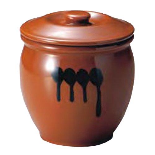 ヤマキイカイ 紅星窯 漬物容器 蓋付半胴瓶 1号 1.8L H-1