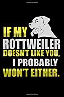 If My Rottweiler Doesn't Like You I Probably Won't Either: Hangman Puzzles | Mini Game | Clever Kids | 110 Lined Pages | 6 X 9 In | 15.24 X 22.86 Cm | Single Player | Funny Great Gift