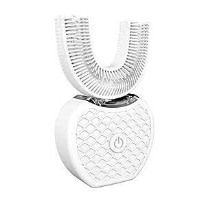 電動歯ブラシ、V-WHITE コールドライト自動ハンズフリーホワイトニング360°超音波歯ブラシ (白)