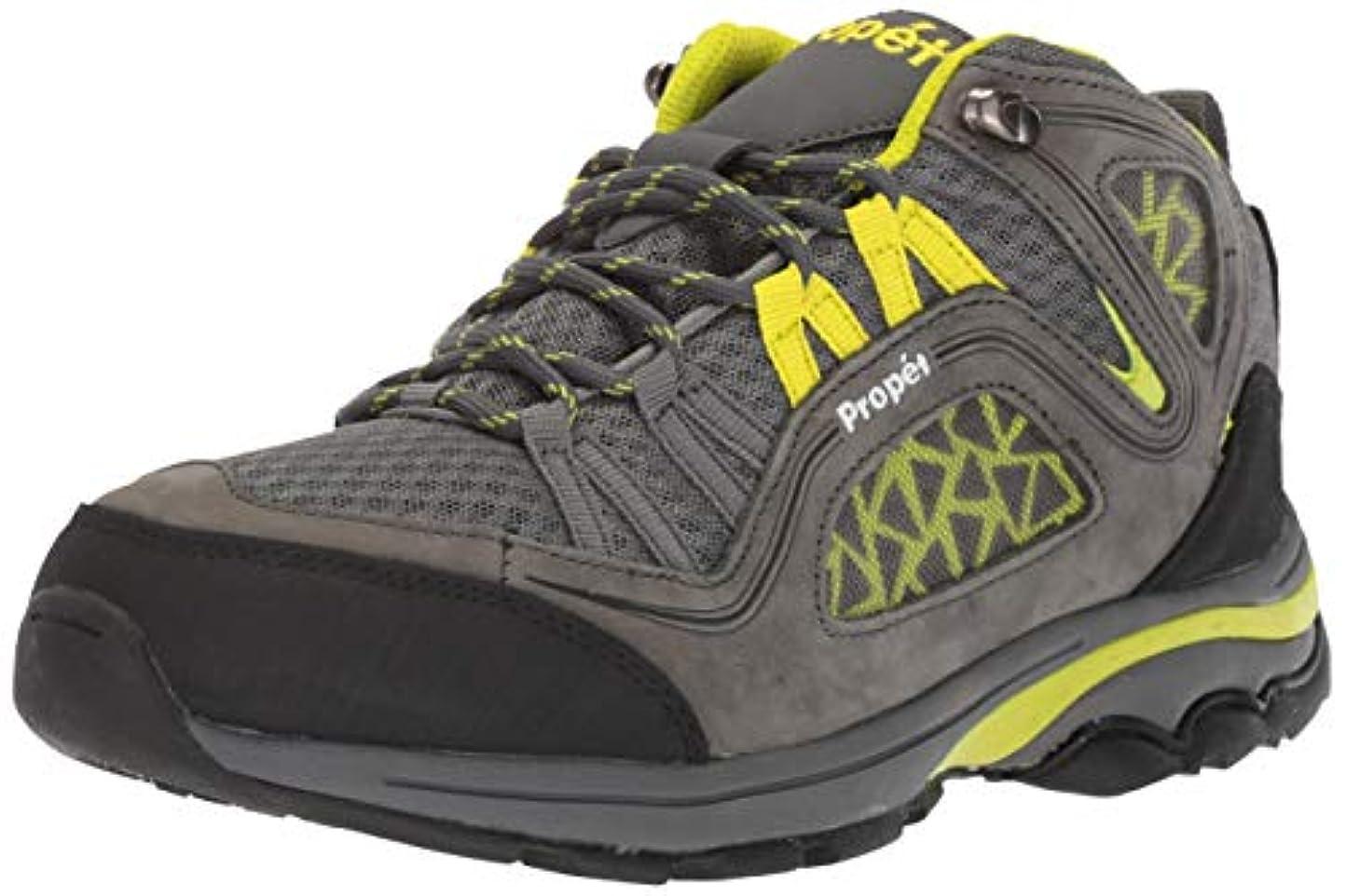 懐デコラティブ露出度の高い[Propet] Women's Peak Dark Grey/Lime Mid-Top Hiking Shoe - 9M