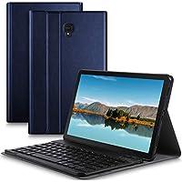 IVSO Samsung Galaxy Tab S4 10.5 SM-T830 (Wi-Fi)/SM-T835 (LTE) キーボード 専用 Samsung Galaxy Tab S4 10.5 SM-T830 (Wi-Fi)/SM-T835 (LTE) keyboard ケース スタンド機能カバー Newモデル ワイヤレス 一体型 手帳型 PUレザーケース付き 電池内蔵 持ち運び便利 無線キーボード サムスン Galaxy Tab S4 10.5 SM-T830 (Wi-Fi)/SM-T835 (LTE) 対応 ブルー