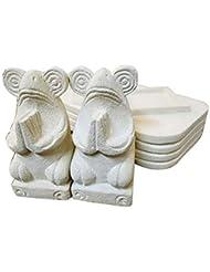 アジアン バリ 雑貨 ?お祈りお香立て(カエル)? おしゃれ インテリア エスニック 石製 オブジェ 小物
