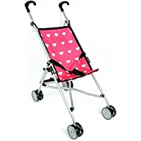 [ニューヨークドールコレクション]The New York Doll Collection Hearts My First Doll Stroller for Kids Super Cute Doll Stroller for Doll [並行輸入品]