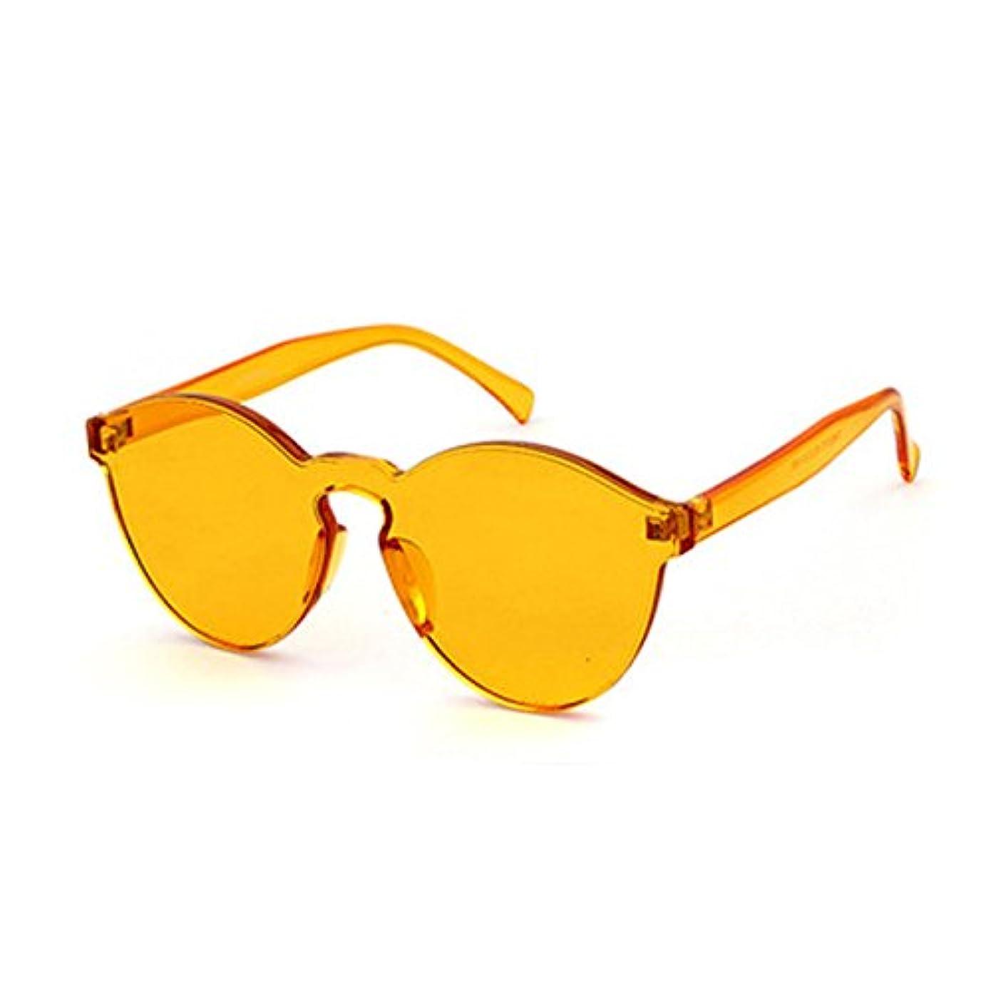 素晴らしさトロリーバス満足できるBolange 黄色 ユニセックスノーフレームレトロサングラス キャンディーカラー キャットアイ透明メガネ 写真撮影用