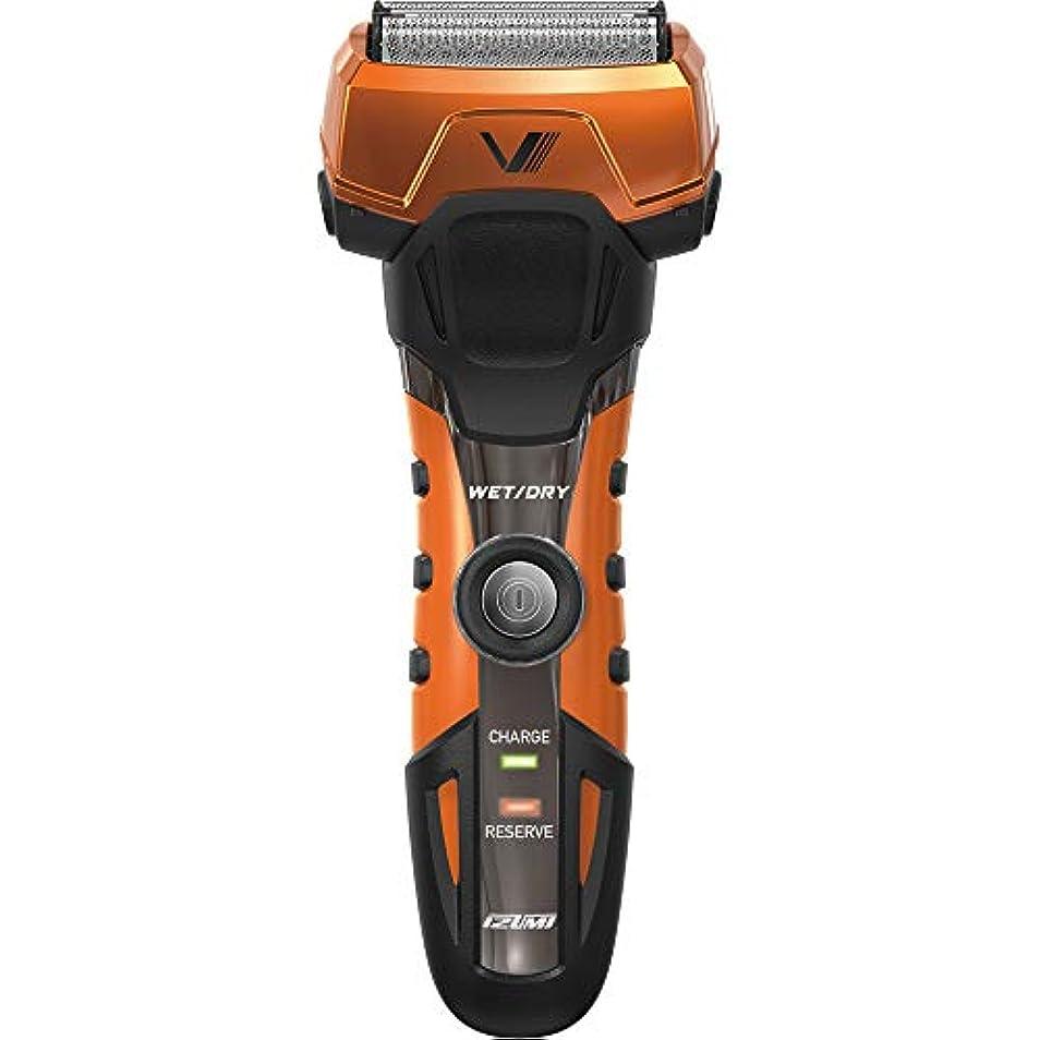シュート葉っぱショットIZUMI A-DRIVE グルーミングシリーズ 往復式シェーバー 3枚刃 オレンジ IZF-V738-D-EA