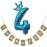 ZONGLIAN 風船 バルーン人気 お洒落 30 'ナンバー箔風船数字ヘリウム バナーベビーシャワーの装飾 パーティーギフト 卒業式 お正月 誕生日 結婚式 記念日 お祝い 二次会 子供会 文化祭 母の日 ブルー