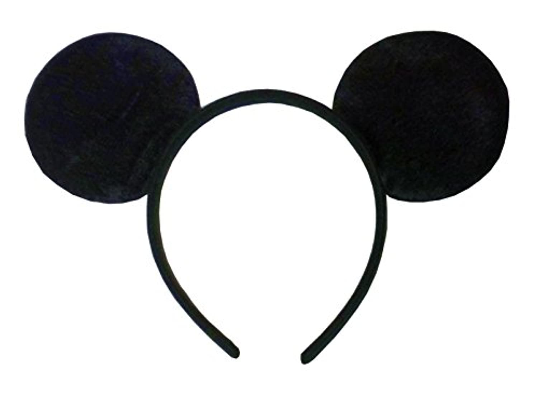 マウスのミミ カチューシャ リボンなし コスチューム用小物 レディース