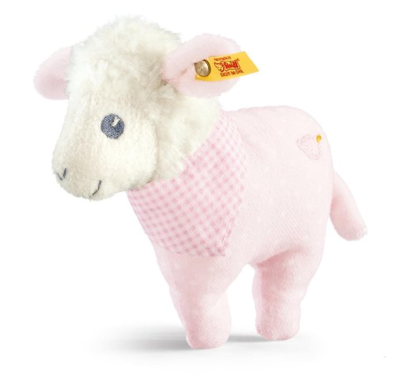Steiff Sweet Dreams Lamb Rattle, Pink, 4.7 by Steiff