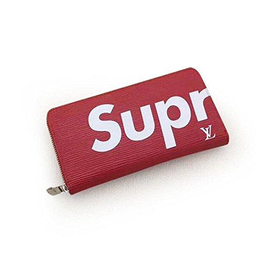 [SUPREME&LV] シュプリーム&ルイヴィトン ファスナー式 財布 M64202 レディース/メンズ長財布 (red) [並行輸入品]
