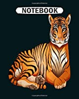 Notebook: lying tigress  College Ruled - 50 sheets, 100 pages - 8 x 10 inches