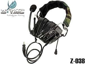 Z TACTICAL Pt ComTac 4タイプ ヘッドセット BK ぺルター