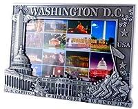 ワシントンDC画像フレーム–シルバー、( 4x 6画像、ワシントンD。C。にお土産、ワシントンDCギフト