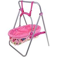 D DOLITY 人形の家具 リボーンドール 新生児人形 幼児人形のため 揺りかご 全2色 - ピンク