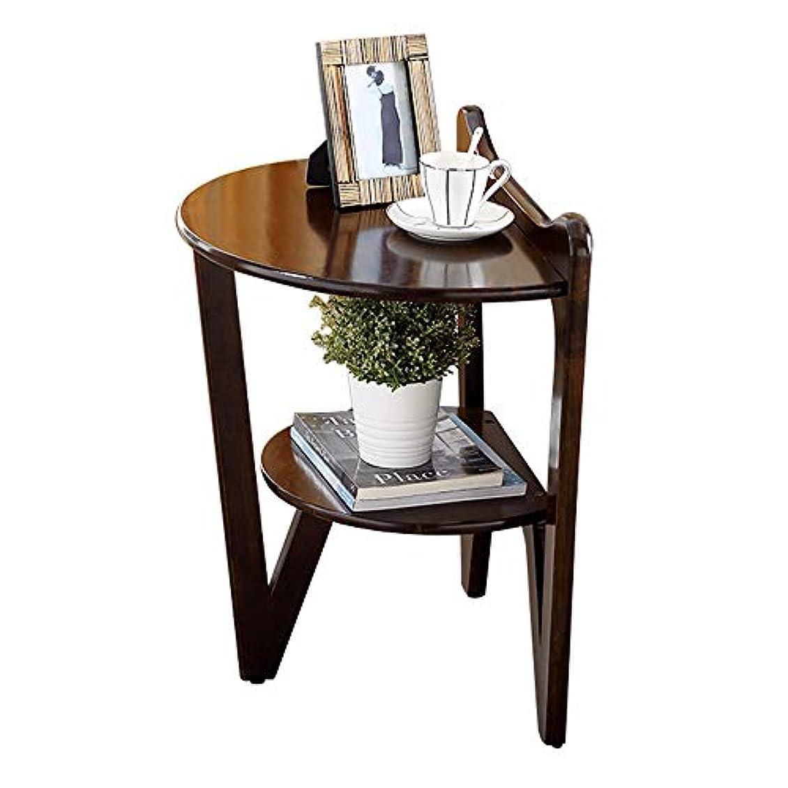 課税社会アイザックHUO 壁に壁の純木のコーヒーテーブルの居間の小さいテーブルのソファーの側面のテーブル - 3色59 * 60 cm (色 : A)