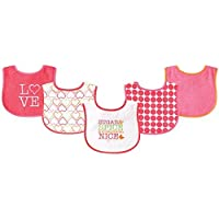 Luvable Friends 5 Piece Fun Girls Drooler Bibs, Sugar and Spice by Luvable Friends