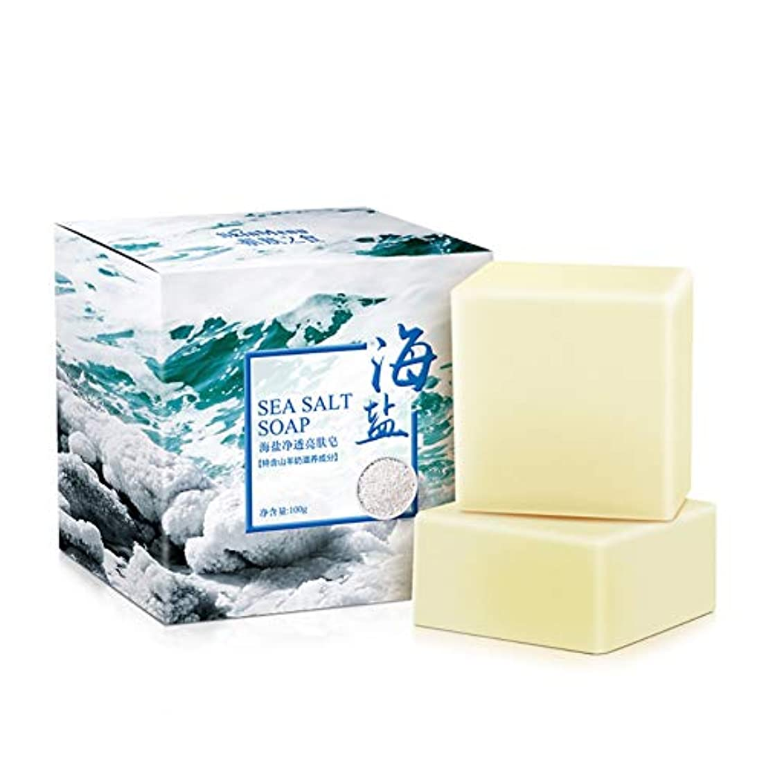 曲げる申込み報いるKISSION せっけん 透明な半透明石鹸 海塩が豊富 ローカストソープ ダニをすばやく削除 無添加 敏感 保湿 肌用 毛穴 対策 パーソナルケア製品