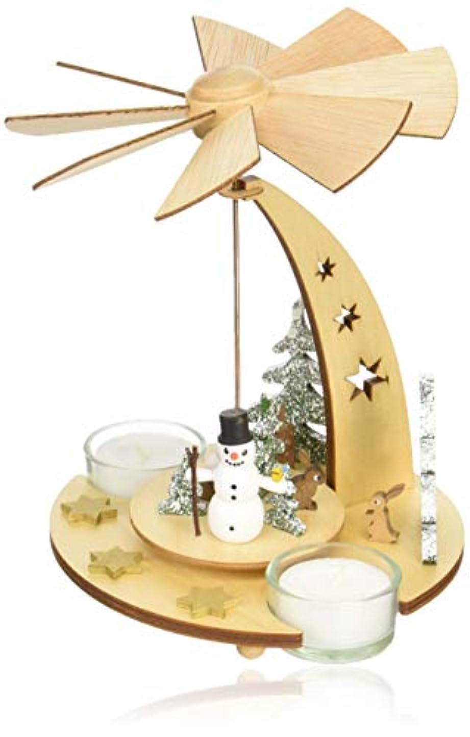 支配するブロッサム入るkuhnert クリスマスピラミッド スノーマン
