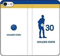 iPhone7/7Plus対応/iPhone用選択可:バスケットシルエット手帳ケース(フルカラー/ホーム/ゴールデンステイト:30番_B) iPhone5c用