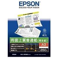 (まとめ) エプソン EPSON 両面上質普通紙<再生紙> A3 KA3250NPDR 1冊(250枚) 【×3セット】