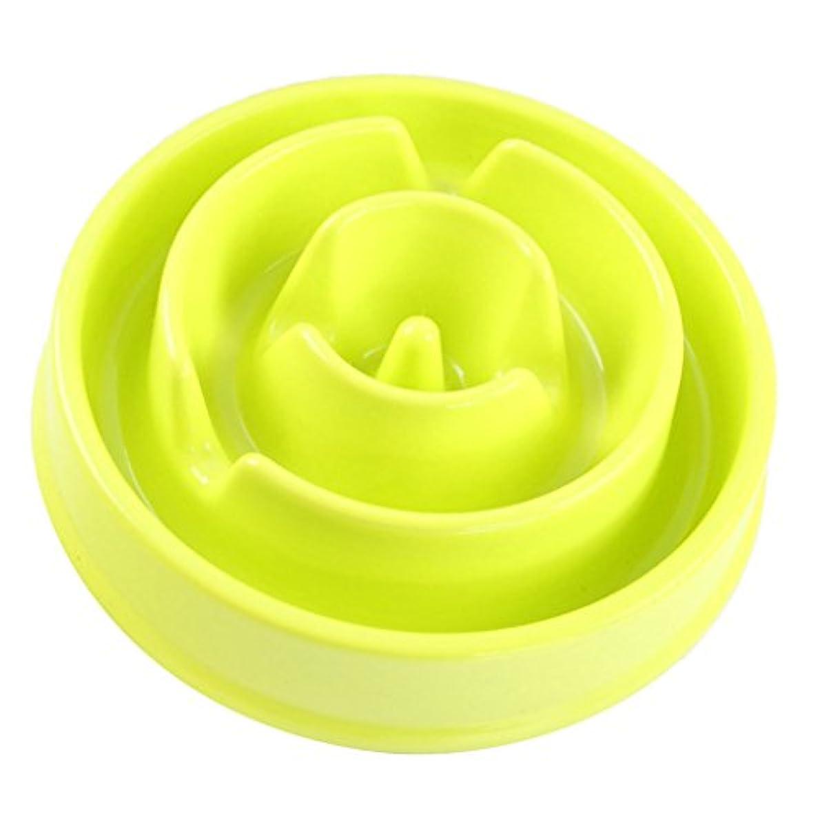 Flameer 全3色選べる  ペット 犬 プラスチック 食器 餌入れ ボウル スローフード ボウル  - 緑