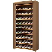 オックスフォード布カバー靴ラック、ストレージルーム家庭用シンプルな竹靴ラック多機能防塵ストレージラック (色 : Brown, サイズ さいず : 70 * 26 * 155CM)
